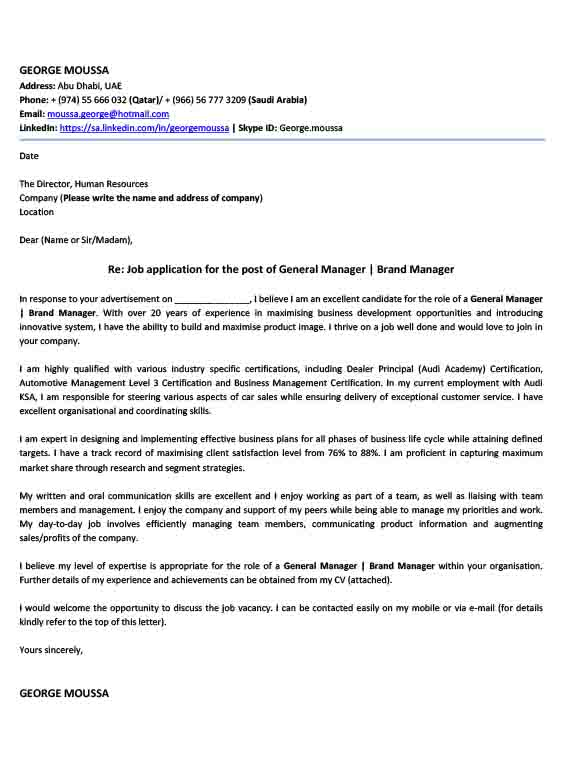 cover letter writing services uae